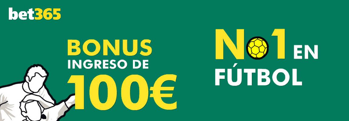 Hasta 100 euros gratis de Bet365