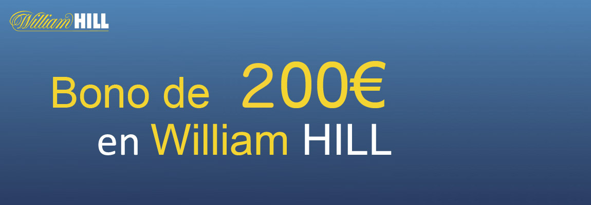 Pide tu bono de 100 euros de William Hill