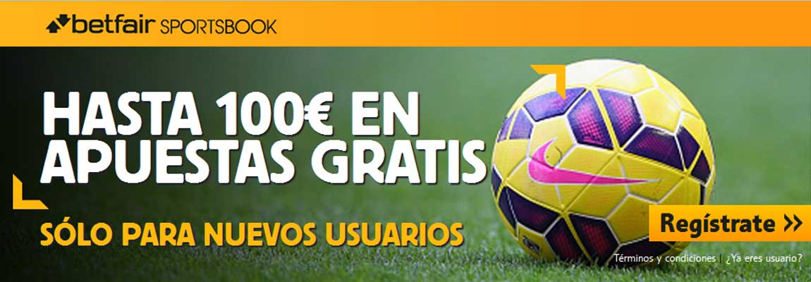 Recibe 100 euros con Betfair